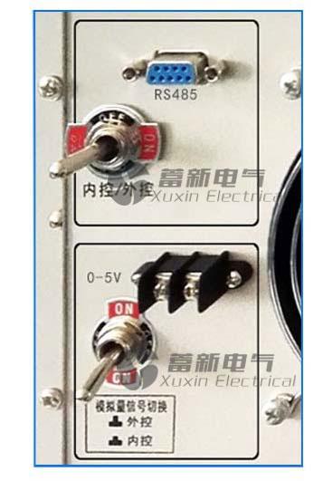 大功率直流高压电源选配RS232,485接口(九针)控制输出。 选配0-5V,0-10V,4-20mA模拟量控制电源的输出。