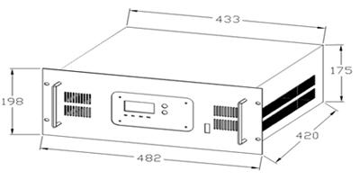 通讯逆变电源产品外观及安装图